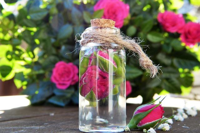 růže v láhvi