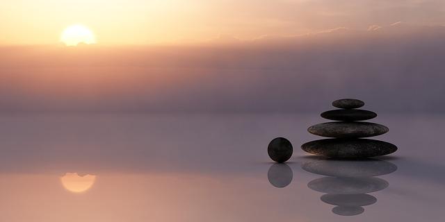 kameny na vodě